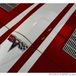 """1963 Chevrolet Corvette Hood Red"" by Automotography"
