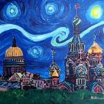 """Starry Night in St Petersburg Russia"" by arthop77"