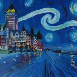"""Starry_Night_Quebec_Chateau_Frontenac_Van_Gogh_Ins"" by arthop77"