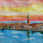 """AQ_Fabulous_Venice_Italy_with_Snowcovered_Alps2"" by arthop77"