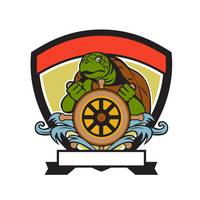 Ridley Turtle At Helm Crest Retro