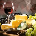 """Wine Cheese and Grapes Still Life"" by ElainePlesser"