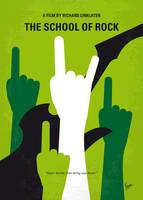 No668 My The School of Rock minimal movie poster