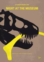 No672 My Night at the Museum minimal movie poster