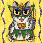 """Lil Mardi Gras Cat New Orleans Party"" by tigerpixie"