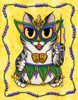 Lil Mardi Gras Cat New Orleans Party