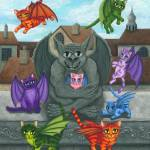 """The Guardian Gargoyle - Kitten Sitter"" by tigerpixie"