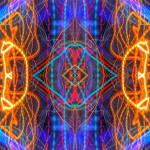 """ABSTRACT LIGHT STREAKS #261 — Electric Mandala"" by nawfalnur"