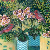 Primula and Red Birds