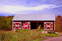 Colorized Red Barn 02500c