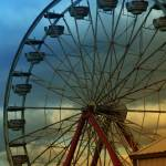 """Ferris Wheel Sunset"" by ldfranklin"