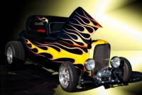 1932 Ford 3 Window Coupe with Flames
