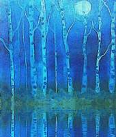 Birches in moonlight