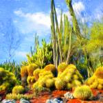 """Desert Garden After Van Gogh"" by johncorney"