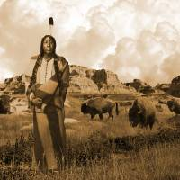 Standing with the Buffalo by I.M. Spadecaller