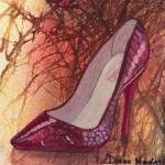 """""""Red Python Pump"""" by DianaNadalFineArt"""
