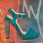 """Desert Turquoise Platform Pump"" by DianaNadalFineArt"