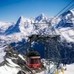 """switzerland alps schilthorn bahn cable car"" by TomJelen"
