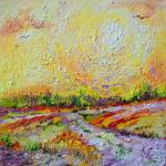 """Impressionist Sunny Day Landscape"" by GinetteCallaway"