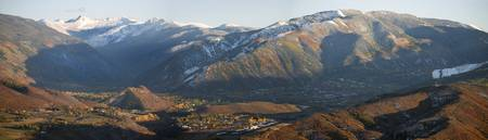 Fall Snow Over Aspen Panorama