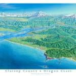 """OR Coast, Clatsop County"" by jamesniehuesmaps"