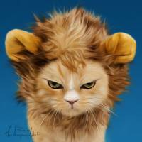 Lion Cat Art Prints & Posters by Pisnak and That Anonymous Artist