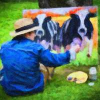 Cows Art Prints & Posters by Gina M. Cormier