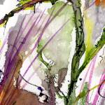 """Green Stem 1 Abstract Watercolor"" by GinetteCallaway"