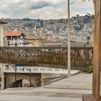 Square at Historic Center of Quito Ecuador Art Prints & Posters by Daniel Ferreira-Leites