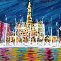 Miss You Las Vegas Art Prints & Posters by Oksana Semenchenko