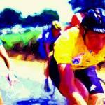 """cyclist e"" by ArtbySachse"