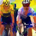 """cyclist k"" by ArtbySachse"