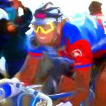 """cyclist c"" by ArtbySachse"