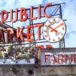 """Public Market Center, Pike Place Market in Seattle"" by ElainePlesser"