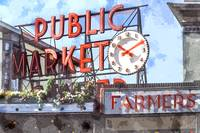 Public Market Center, Pike Place Market in Seattle