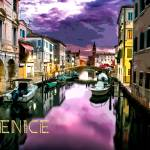 """Venice at Dusk TEXT VENICE"" by ElainePlesser"