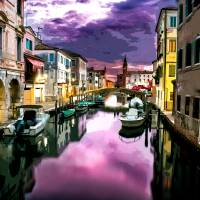 Venice at Dusk Art Prints & Posters by Elaine Plesser