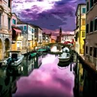 Venice at Dusk Art Prints & Posters by Elaine Plesser