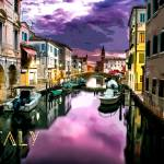 """Venice at Dusk TEXT ITALY"" by ElainePlesser"