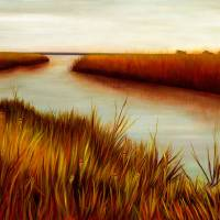 November on the Marsh Art Prints & Posters by Lydia Quinn