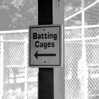 Batting cages Art Prints & Posters by Dawn Eves
