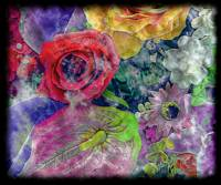 34a Abstract Floral Painting Digital Expressionism