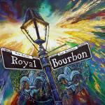 """Bourbon Street Sign - 2016 Nicolas Avet"" by NicolasAvet"