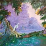 """""""White Crane - 2016 Nicolas Avet"""" by NicolasAvet"""