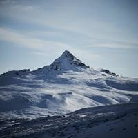 Snowy Mountain in Iceland