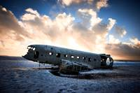Plane wreck in Southern Iceland