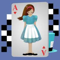 Alice 3D Flying Cards Art Prints & Posters by Audra Lemke