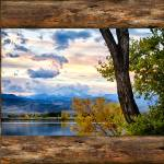 """Rocky Mountain Longs Peak Rustic Cabin Window View"" by lightningman"