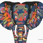 """Flashy Elephant"" by ksartoris"