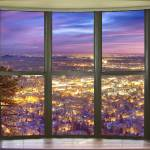 """Beautiful City Lights Bay Window View"" by lightningman"